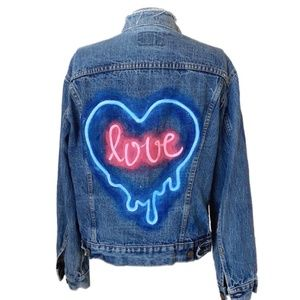 Vintage Levi's Handpainted Denim Jacket